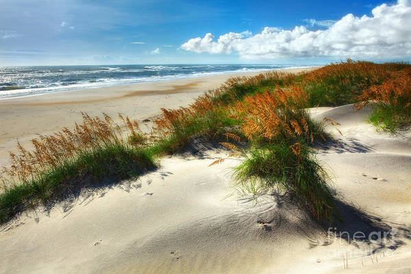 North Carolina Poster featuring the photograph Seaside Serenity I - Outer Banks by Dan Carmichael