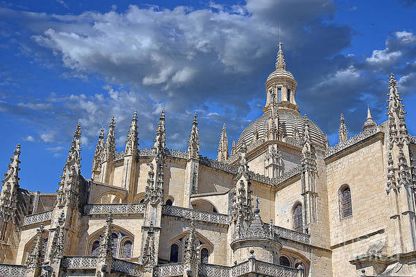Photography Poster featuring the photograph Segovia Gothic Cathedral by Ivy Ho