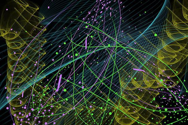 Celebration Poster featuring the digital art Slinky Celebration by Camille Lopez