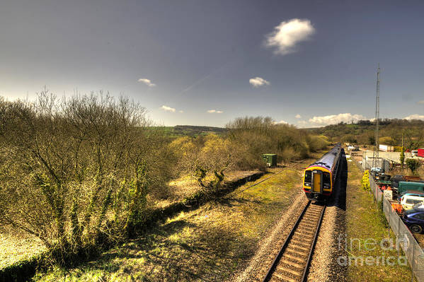 Seaton Poster featuring the photograph Spring At Seaton Junction by Rob Hawkins