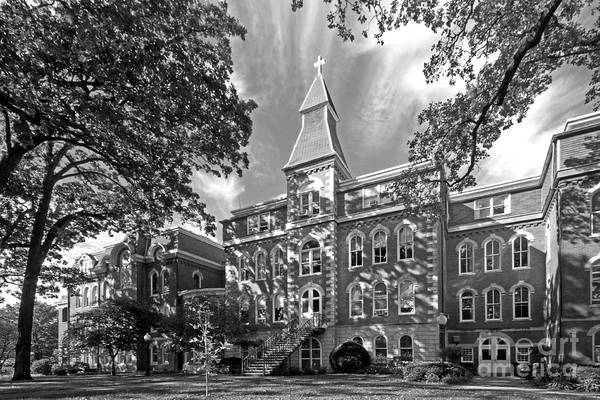 Ambrose Hall Poster featuring the photograph St. Ambrose University Ambrose Hall by University Icons