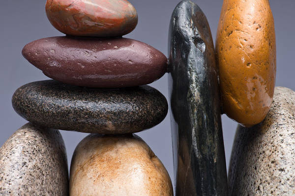 Pebble Poster featuring the photograph Stacked Stones 2 by Steve Gadomski