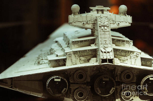 Fighter Poster featuring the photograph Star Destroyer Maquette by Micah May