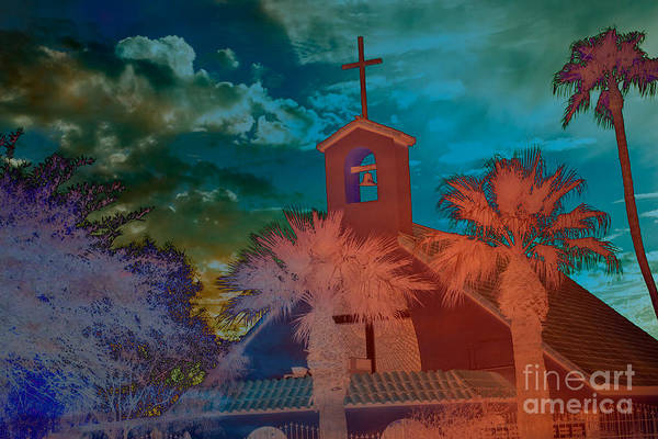 Chapel Photograph Poster featuring the photograph Steeple Bell Tower by Beverly Guilliams