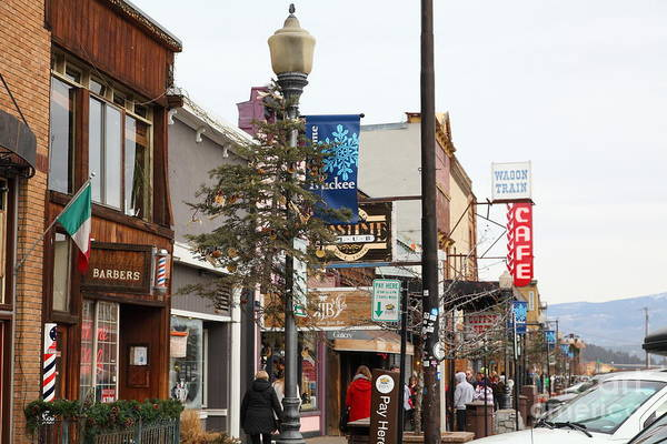 Tahoe Poster featuring the photograph Storefront Shops In Truckee California 5d27489 by Wingsdomain Art and Photography