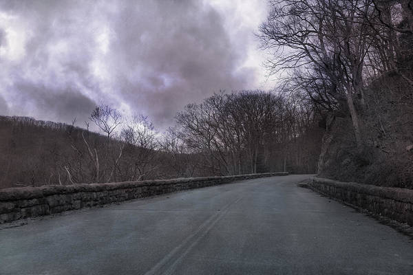 Blue Poster featuring the photograph Stormy Blue Ridge Parkway by Betsy Knapp