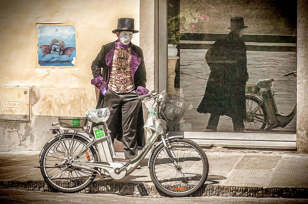 Bicycle Poster featuring the photograph Street Vendor by Maria Coulson