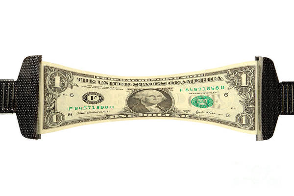 Dollar Poster featuring the photograph Stretching The Dollar by Olivier Le Queinec