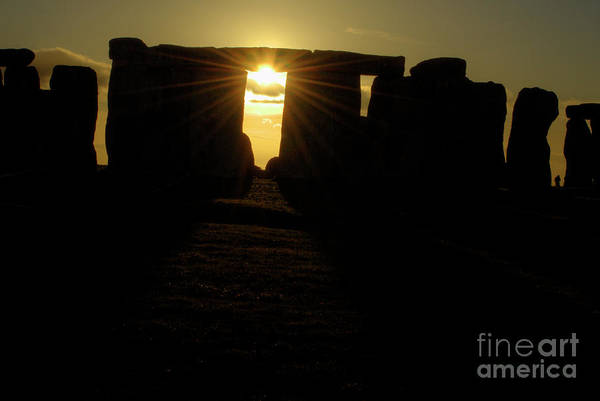 England Poster featuring the photograph Sunset At Stonehenge 5 by Deborah Smolinske