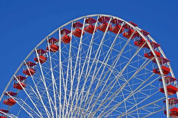 Wheels Poster featuring the photograph The Ferris Wheel Chicago by Christine Till