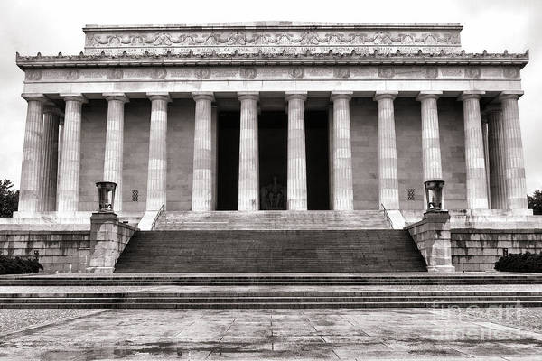 Washington Poster featuring the photograph The Lincoln Memorial by Olivier Le Queinec