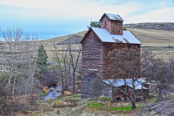 Cabin Poster featuring the photograph The Old Grain Storage by Steve McKinzie