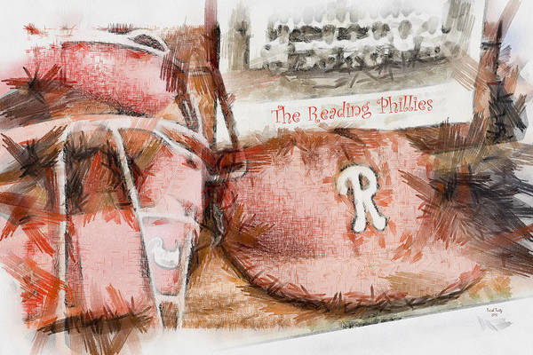 Baseball Poster featuring the photograph The Reading Phillies by Trish Tritz
