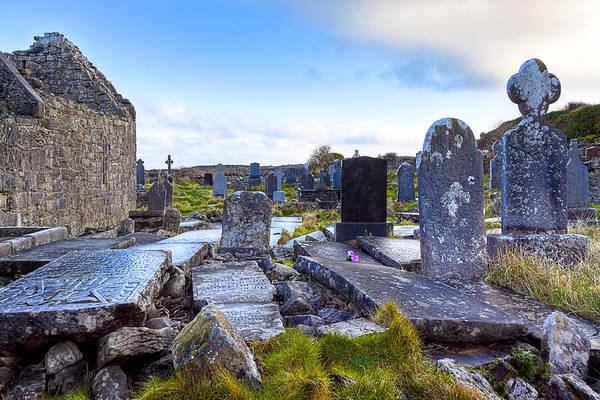 Galway Poster featuring the photograph The Seven Churches Ruins On Inis Mor by Mark E Tisdale