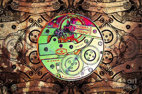 Steampunk Poster featuring the photograph Time Machine 20130606 by Wingsdomain Art and Photography
