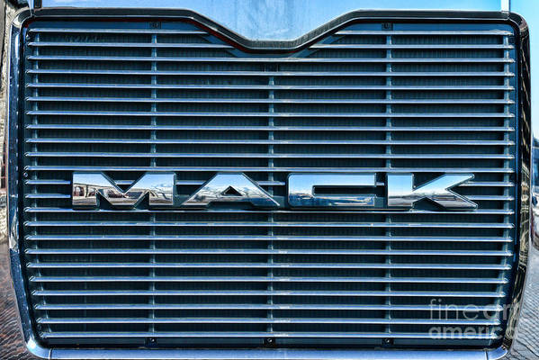 Paul Ward Poster featuring the photograph Truck - The Mack Grill by Paul Ward