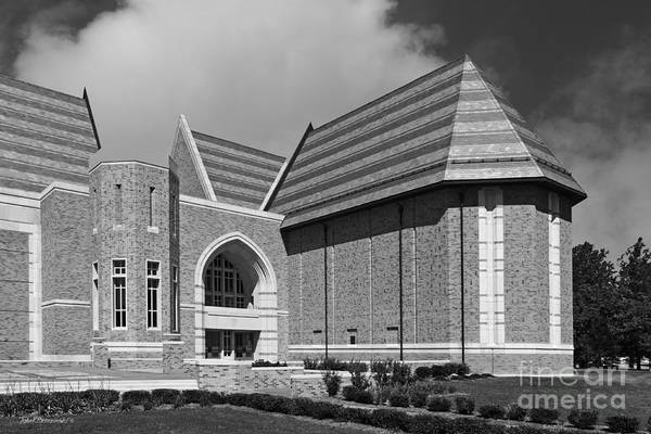 Big East Conference Poster featuring the photograph University Of Notre Dame De Bartolo Performing Arts Center by University Icons