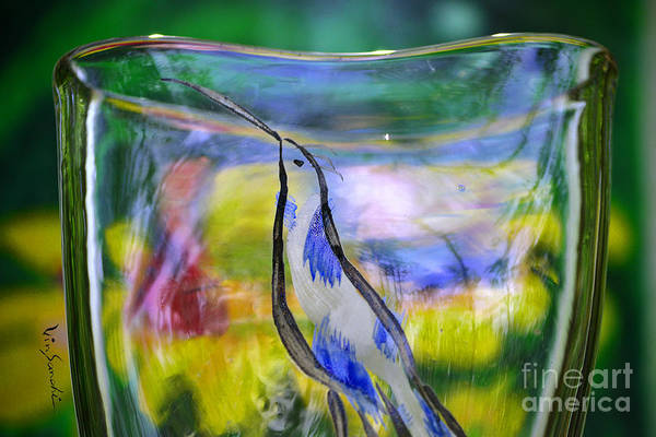 Nature Poster featuring the glass art Vinsanchi Glass Art-1 by Vin Kitayama