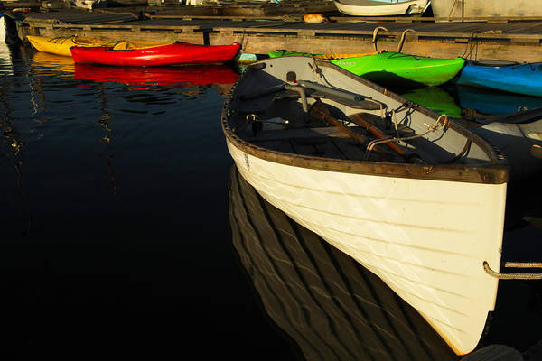 Boats Poster featuring the photograph Waiting At The Dock by Karol Livote
