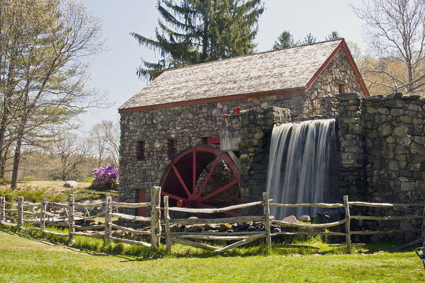Wayside Grist Mill Poster featuring the photograph Wayside Grist Mill 5 by Dennis Coates