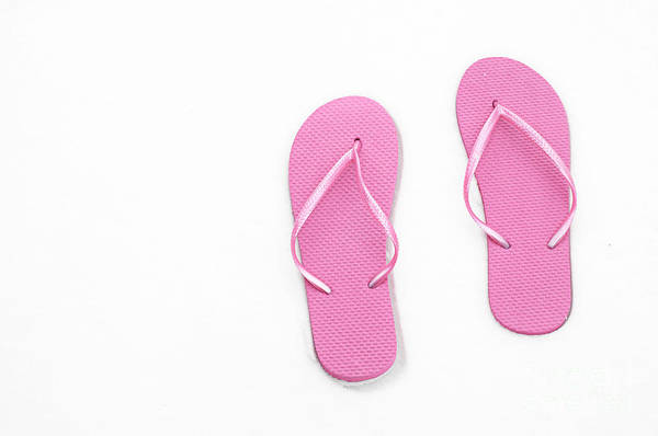 Andee Design Flip Flops Poster featuring the photograph Where On Earth Is Spring - My Pink Flip Flops Are Waiting by Andee Design