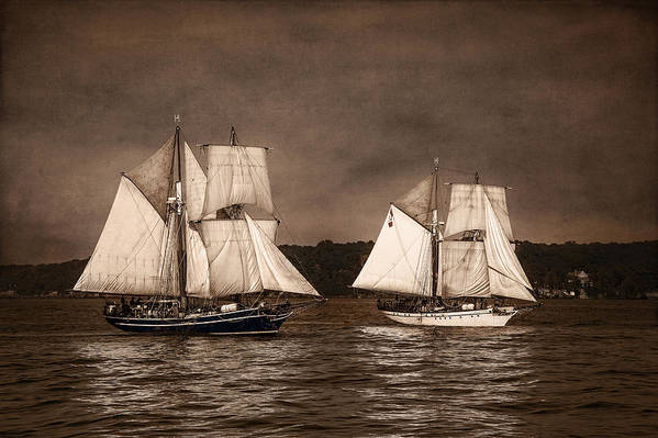 Playfair Poster featuring the photograph With Full Sails by Dale Kincaid
