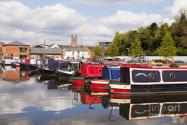 Worcester Poster featuring the photograph Worcester Diglis Basin Narrow Boats by Colin and Linda McKie