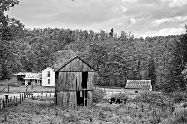 West Virginia Poster featuring the photograph Autumn Farm Monochrome by Steve Harrington