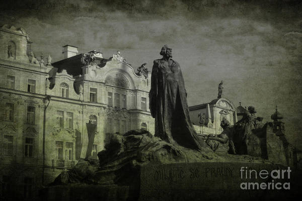 Death In Prague Poster featuring the photograph Death In Prague by Lee Dos Santos