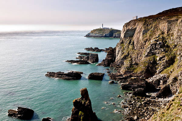 Acrylic Poster featuring the photograph South Stack by Gary Finnigan