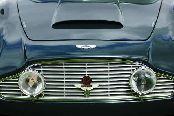 1963 Aston Martin Db4 Series V Vantage Gt Poster featuring the photograph 1963 Aston Martin Db4 Series V Vantage Gt Grille by Jill Reger
