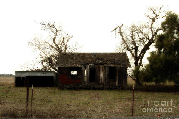Dreamy Poster featuring the photograph Dilapidated Old Farm House . 7d10341 by Wingsdomain Art and Photography