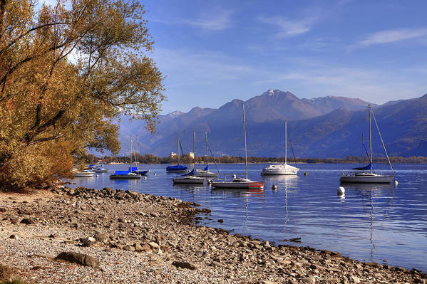 Beach Poster featuring the photograph Lake Maggiore by Joana Kruse