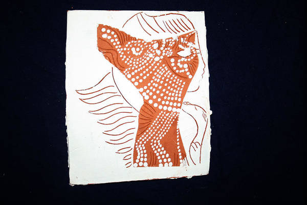 Jesus Poster featuring the ceramic art Guardian Angel by Gloria Ssali