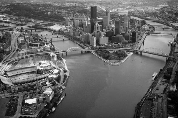 Aerial Photography Poster featuring the photograph Above Pittsburgh by Emmanuel Panagiotakis