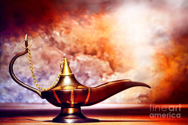 Aladdin Poster featuring the photograph Aladdin Lamp by Olivier Le Queinec