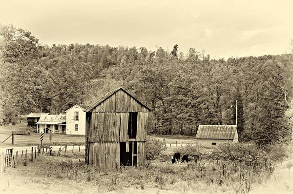 West Virginia Poster featuring the photograph Autumn Farm Sepia by Steve Harrington