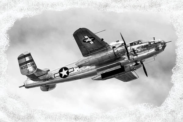 Airshow Poster featuring the photograph B25 In Flight by Greg Fortier