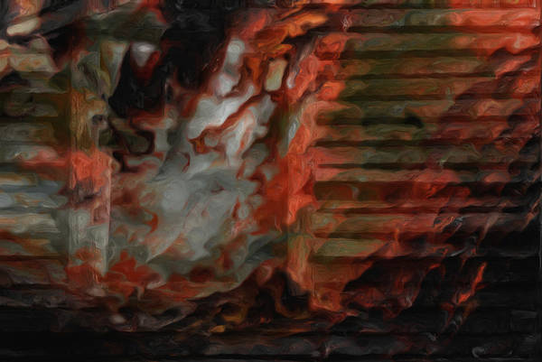 Barn Poster featuring the photograph Barn Burning by Jack Zulli