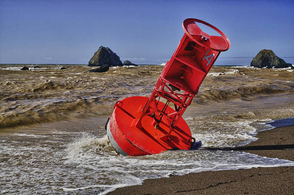 Bell Buoy Poster featuring the photograph Bell Buoy by Garry Gay