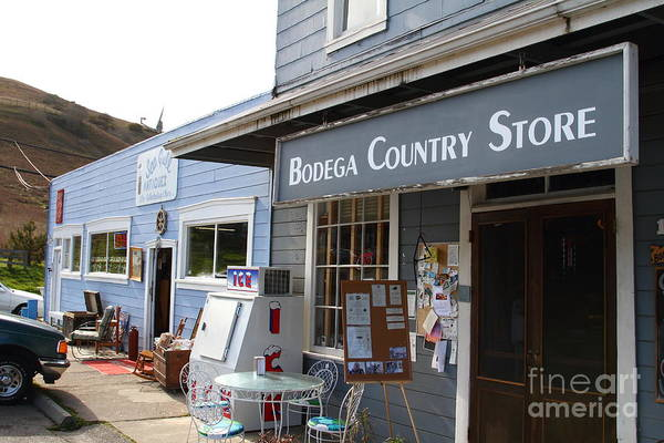 Bodega Country Store Poster featuring the photograph Bodega Country Store . Bodega Bay . Town Of Bodega . California . 7d12452 by Wingsdomain Art and Photography