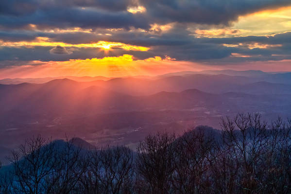 Appalachia Poster featuring the photograph Brasstown Sunset by Debra and Dave Vanderlaan
