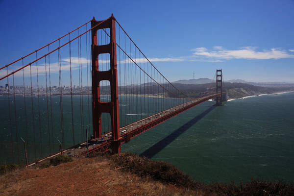 Golden Gate Bridge Poster featuring the photograph Bridge Of Dreams by Laurie Search