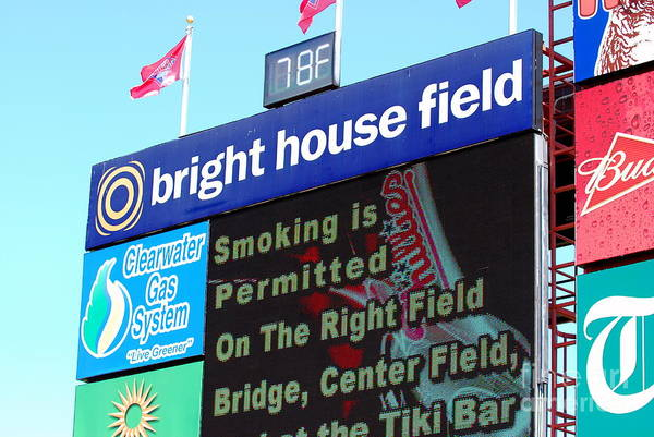 Philadelphia Phillies Poster featuring the photograph Bright House Field by Carol Christopher