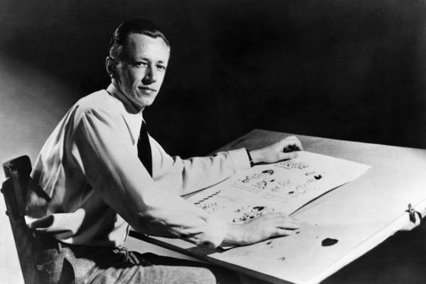 1950s Candids Poster featuring the photograph Charles M. Schulz, 1922-2000, American by Everett