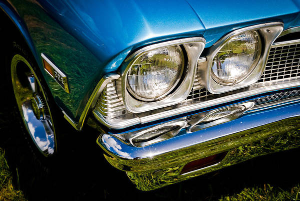 Chevrolet Poster featuring the photograph Chevelle Lights by Phil 'motography' Clark