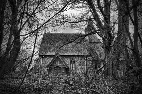 Wychling Poster featuring the photograph Church In The Woods by Dave Godden