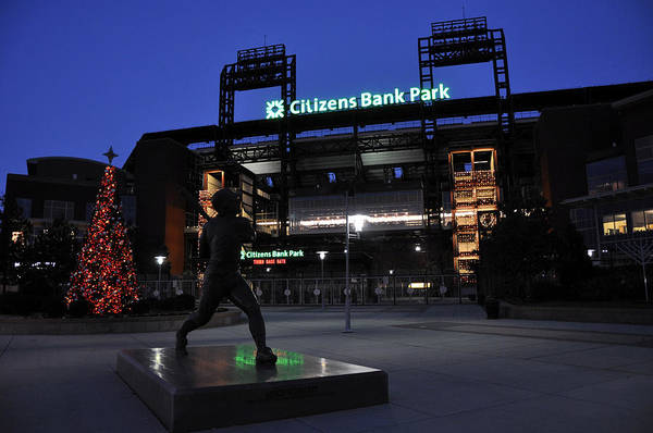 Citizens Bank Park Poster featuring the photograph Citizens Bank Park by Andrew Dinh