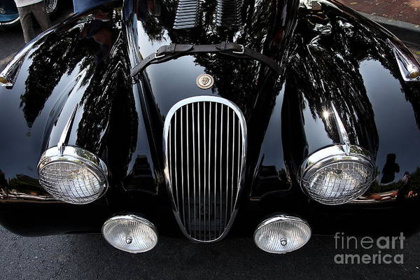 Transportation Poster featuring the photograph Classic Black Jaguar . 40d9322 by Wingsdomain Art and Photography