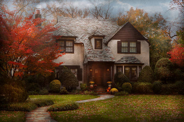 Cottage Poster featuring the photograph Cottage - Westfield Nj - The Country Life by Mike Savad